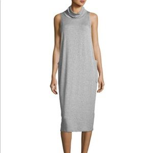 Eileen Fisher Cowl-neck sleeveless knit dress